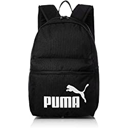 Puma Phase Backpack Mochila de Deporte, Unisex Adulto, Negro Black, One Size