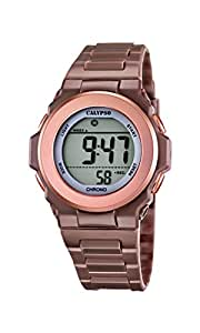 Calypso watches - K5661/3 - Montre Femme - Quartz - Digitale - Alarme/Chronomètre - Bracelet plastique Marron
