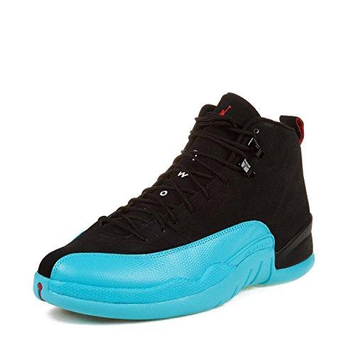 Jordan Nike Air 12 Retro Taxi Leder-Basketball-Schuhe