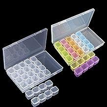 2 paquete 28 rejilla caja de bordado de diamantes, caja de almacenamiento 5D accesorios de