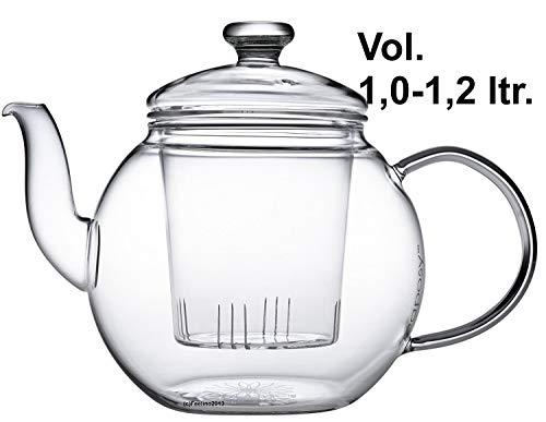 Teaposy Harvest Hochwertiger Teekrug 1,2 L mit Glasfilter und Glasdeckel, aus hochwertigem...