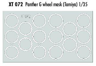 T072 Modellbauzubehör Panther G Sonderkraftfahrzeug 171 Maskierfolie für Laufrollen ()