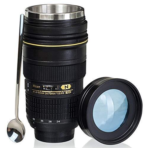 Avec Lens 70mm Café Acier 24 CouverclePhoto De Objectif Nikon Tasses Camera Voyage À En Tmango Thermos B Mug Inoxydable KcTlJ13F