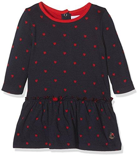 Petit Bateau Baby-Mädchen Kleid Robe ML Mehrfarbig (Smoking/Froufrou 56) 86 (Herstellergröße: 18m/81cm) - Detail-robe