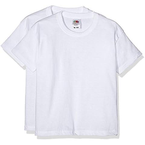 Fruit of the Loom 6103323 - Camiseta para niños, lot de 2