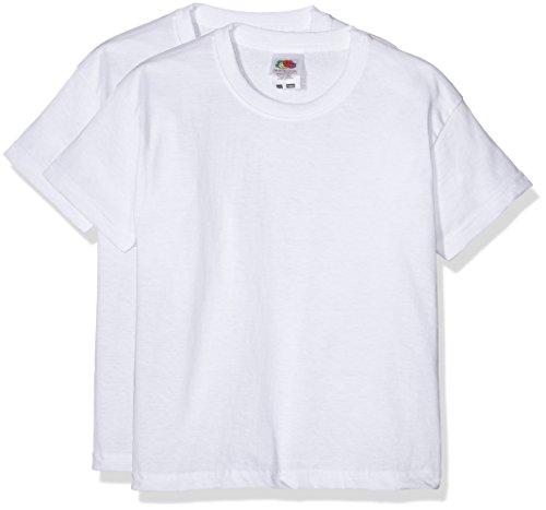 fruit-of-the-loom-6103323-camiseta-para-nios-lot-de-2-color-blanco-3-4-aos-104-cm