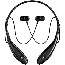SoundPEATS Q900 Bluetooth Headphones Wireless Headset Stereo Neckband Sport Earbuds with Mic (10 Hours Play Time, Bluetooth 4.1, Sweatproof) for iPhone 6S/7/Plus OnePlus Moto Xiaomi Lenovo Samsung HTC Coolpad iPad, Black
