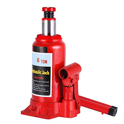 Cric idraulico a bottiglia, cric a bottiglia 6T pompa idraulica ingranaggio automotive sollevatore strumento di riparazione veicolo idraulico cric a bottiglia 6T rosso