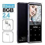 MP3-Player mit Bluetooth 4.1, Touch-Tasten mit 2,4-Zoll-Bildschirm, 8 GB Portable Lossless Digital Audio Player