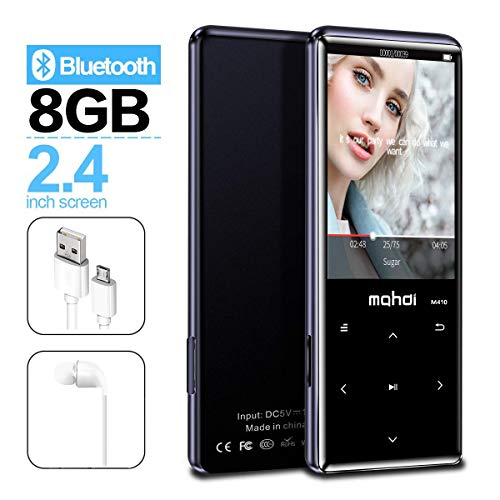 ooth 4.1, Touch-Tasten mit 2,4-Zoll-Bildschirm, 8 GB Portable Lossless Digital Audio Player ()