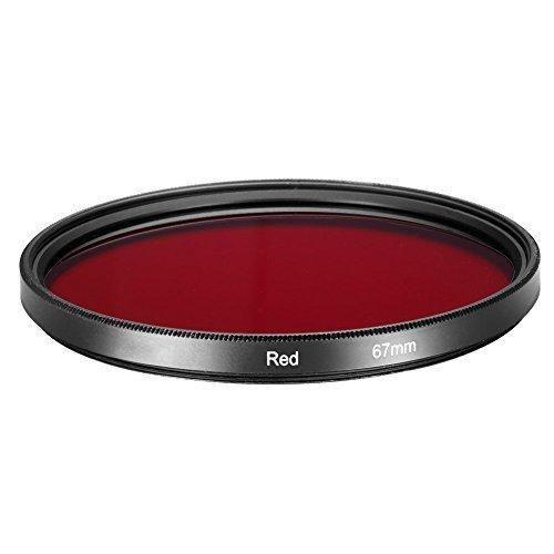 Voll rote Farbfilter - TOOGOO(R) 67mm Voll Rotfilter fuer Kamera-Objektiv mit 67mm Filtergewinde