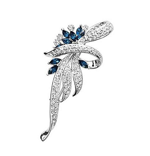 Männer Frauen Geschenke Mode leuchtenden Kristall Broschen und Pins BLUE