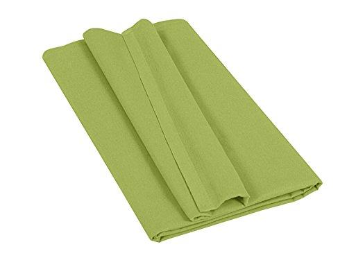 Betttuch - Haustuch - Bettlaken - aus 100% Baumwolle in 7 ausgesuchten Farben - Laken ohne Gummizug - Einheitsgröße von ca. 150 x 250 cm, grün