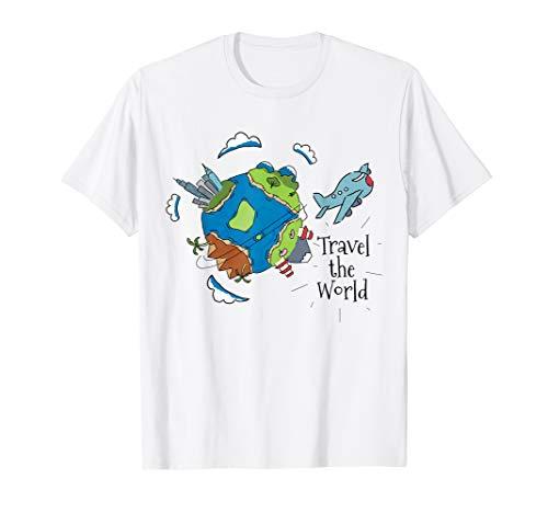 Travel The World T-Shirt Weltreise Fernweh Reisen Geschenk
