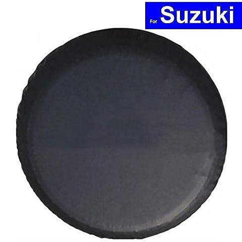 AutoSunShine Auto Ersatz Rad Reifen Abdeckung Fall Auto Reifen Schutz Storage Taschen für Suzuki Swift Grand Vitara Alto SX4 Splash mit Logo (15 inch with SUZUKI logo)