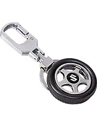 CVANU Suzuki Spinning Tyre Rotary Wheel Locking Metal Keychain / Key Ring / Key Chain For Tata Safari