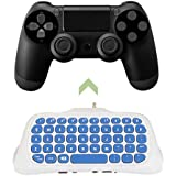 Mini 2.4G Wireless Message Keyboard Adapter Chatpad Keypad For Playstation 4 For Ps4 Controller Game Accessory White, White