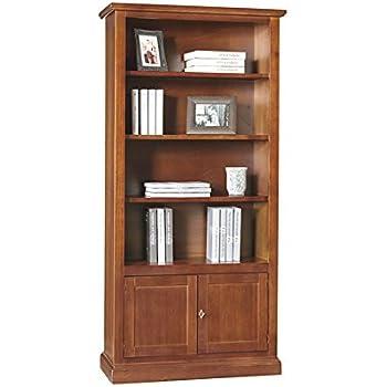 Libreria, stile classico, in legno massello e mdf con rifinitura ...