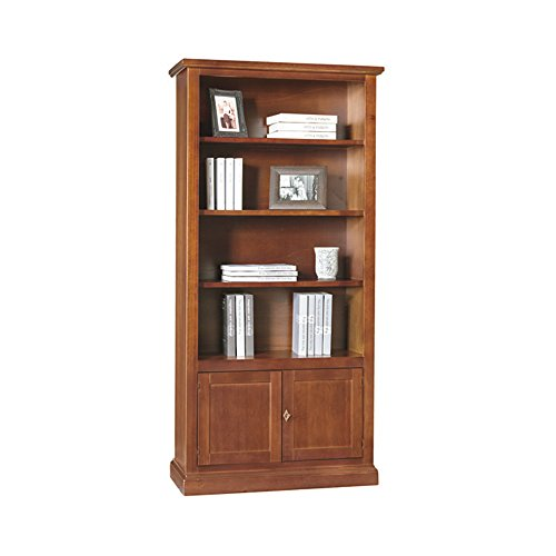 libreria-estilo-clasico-en-madera-maciza-y-mdf-con-acabado-nogal-pulido-medidas-90-x-41-x-186