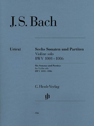 3 Sonaten + 3 Partiten Bwv 1001-1006 Vl Solo. Violine