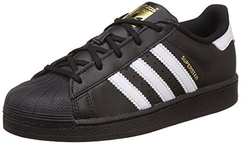 adidas Superstar C, Sneakers Basses Mixte Enfant, Noir (Cblack/Ftwwht/Cblack), 31