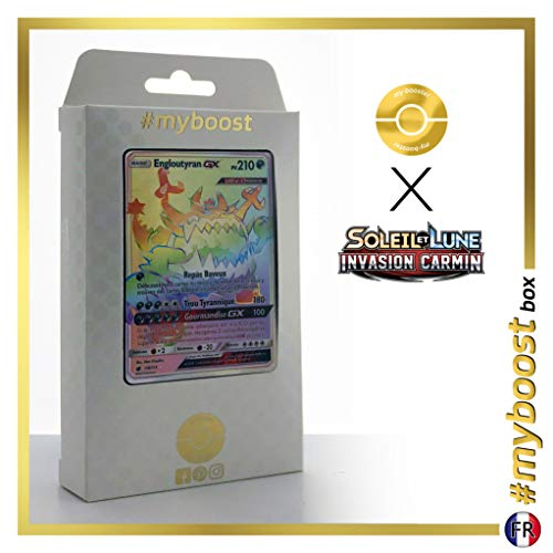 Engloutyran-GX (Guzzlord-GX) 116/111 Arcoíris Secreta - #myboost X Soleil & Lune 4 Invasion Carmin - Box de 10 Cartas Pokémon Francés