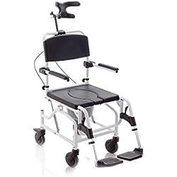 mopedia–Silla ergonómico para inodoro y ducha sobre ruedas–Basculante
