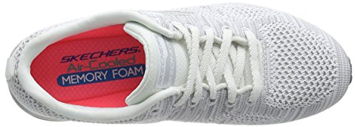 Skechers Air Infinity Stand Out, Fitness femme Blanc (Blanc/Argent)