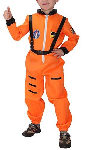 ungen Astronauten Kostüm Faschingskostüm Orange Körpergröße 120-130cm (Astronaut Kostüm Orange)