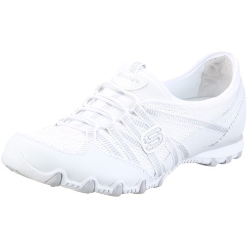 Skechers Bikers Hot Ticket, Baskets mode femme Blanc (Wht)