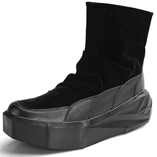 K-Flame High Top Lederstiefel Männer chinesische Art-Boot-Halloween Cosplay Abendkleid Schuhe Gentlemen anzeigen (Kostüm 4 Ferse)