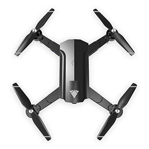 Fulltime 2,4 GHz 4CH Haltung halten WiFi 4K optischer Fluss Dual-Kamera RC Quadcopter, Geste Video, experimentelle Folgen, echte Natur HD-Präsentation, schwarz, weiß (schwarz)