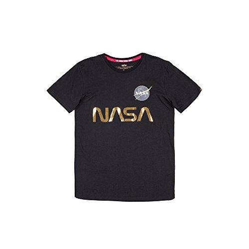 Alpha Industries T-Shirt NASA Reflective T, Größe:M, Farbe:Black/Gold