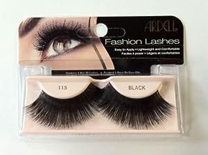 ARDELL Fashion & Accent Eyelashes 100% Human Hair NO 115 Black