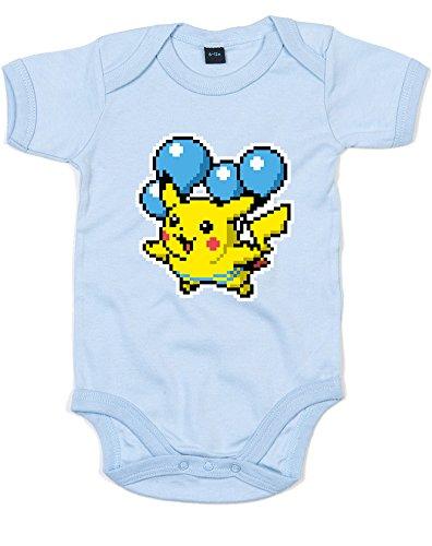 uckt Baby Strampler - Staubige blaue/Transfer 0-3 Monate (Pikachu-strampler)