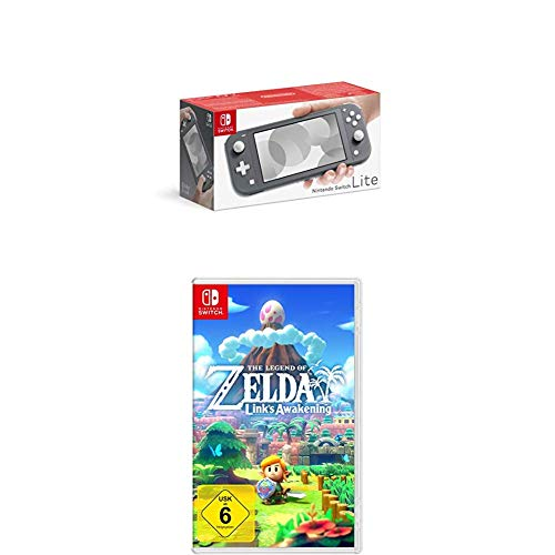 Nintendo Switch Lite, Standard, grau + The Legend of Zelda: Link's Awakening [Nintendo Switch]