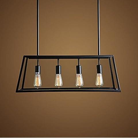 Vintage vetro metallico 4IndustrialStyle luci lampadario pendente
