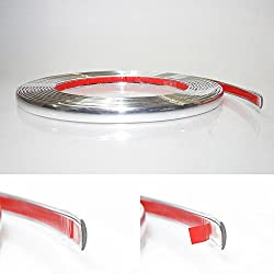 7mm x 5 meter Chrom Zierleiste Leisten Chromleiste Selbstklebend Flexibel Kunststoff Tuning
