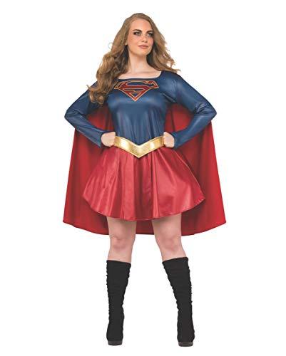 Horror-Shop Original Supergirl Plus Size Damenkostüm aus der Supergirl Fernsehserie Plus Size (Plus Size Supergirl)