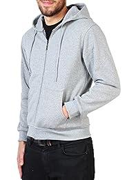 KRISP® Hommes Sweat A Capuche Uni Classique Sportwear