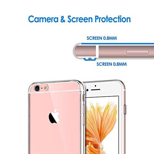 iPhone 6s Plus Hülle, JETech Apple iPhone 6 Plus / 6s Plus 5.5 Hülle Tasche Schutzhülle Case Cover Bumper und Anti-Scratch Löschen Back für iPhone 6s Plus iPhone 6 Plus 5.5 (Roségold) - 3204 Kristall Klar