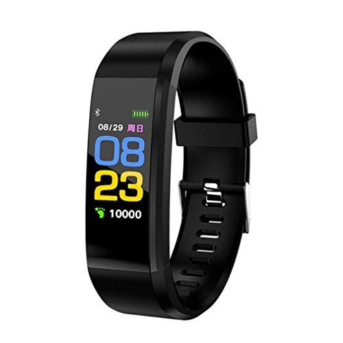 RTGFS Smart Watch Herzfrequenzmesser Fitness Tracker Smartwatch Sport Uhr für Ios Android + Box Mann Frau lila schwarz
