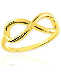 Little Treasures - 14ct Polished Gold Infinity Ring