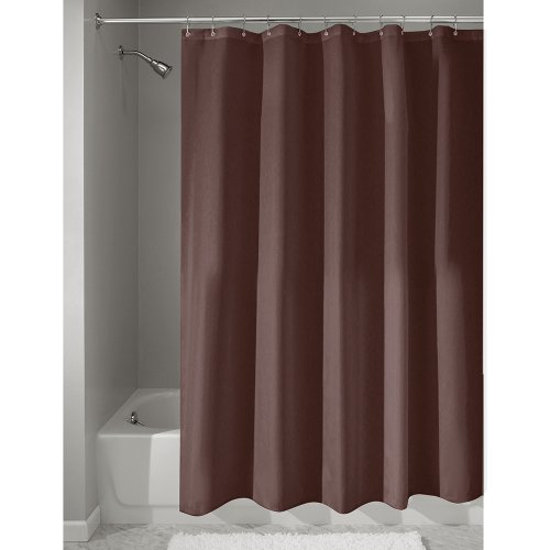 interdesign-mildew-free-water-repellent-fabric-shower-curtain-183-x-183-cm-chocolate-brown