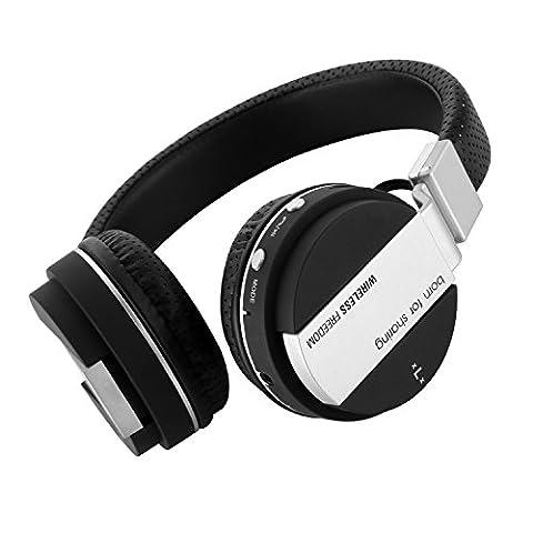 Bluetooth Kopfhörer kabellos, gspon Tragbare Musik Stereo faltbar Kopfhörer mit integriertem Mikrofon & Dehnbar, Kopfband, kompatibel für Handys, Tablets, PC, Laptops, iPod