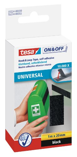 tesa-on-off-klettband-schwarz-1m-x-20mm