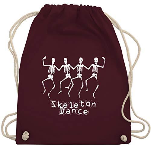 Halloween - Skeleton Dance Skelett Tanz - Unisize - Bordeauxrot - WM110 - Turnbeutel & Gym ()