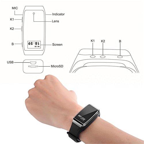 Hangang-Smart-Pulsera-Cmara-Oculta-Pulsera-1080p-Hd-Mini-Videocmara-Con-Traccia-Fasi-La-Calidad-Del-Sueo-Videocmara-Grabadora-De-Vigilancia-Porttiles-Para-Iphone-y-Telfonos-Android