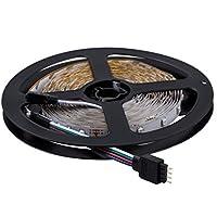 SODIAL(R) 2x5m 10M 3528 della lampada SMD 600 LED RGB striscia flessibile Ribbon +44 Key controller Colours IR