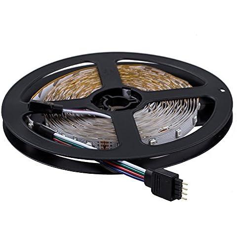 SODIAL(R) 2x5m 10M 3528 tira flexible SMD LED RGB 600 Lampara de luz de la cinta 44 Controlador Colores IR Key. Ideal para jardines, Casas, cocina, debajo del gabinete, Acuarios, Coches, Bar, Luna, bricolaje decoracion del partido